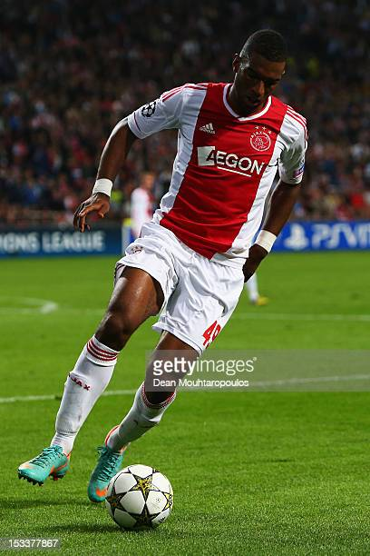 Ryan Babel of Ajax in action during the UEFA Champions League Group D match between Ajax Amsterdam and Real Madrid at Amsterdam Arena on October 3...