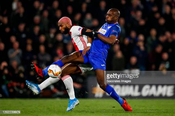 Ryan Babel of Ajax Nyom of Getafe CF during the UEFA Europa League match between Getafe v Ajax at the Coliseum Alfonso Perez on February 20 2020 in...