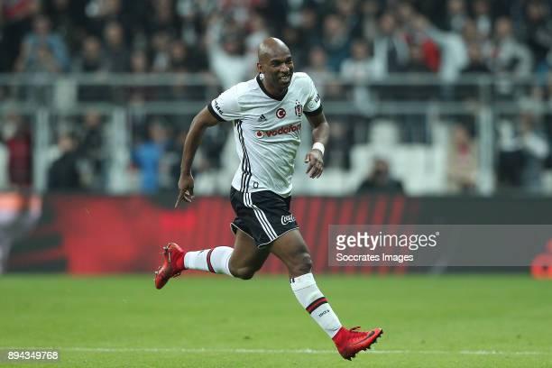 Ryan Babel of Besiktas celebrates during the Turkish Super lig match between Besiktas v Osmanlispor at the Vodafone Park on December 17 2017 in...