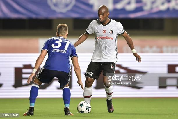 Ryan Babel of Besiktas in action against Matija Nastasic of Schalke 04 during the International Champions Cup match between Schalke 04 and Besiktas...