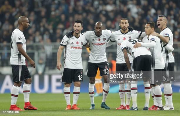 Ryan Babel of Besiktas Tolgay Arslan of Besiktas Atiba Hutchinson of Besiktas Pepe of Besiktas during the UEFA Champions League match between...