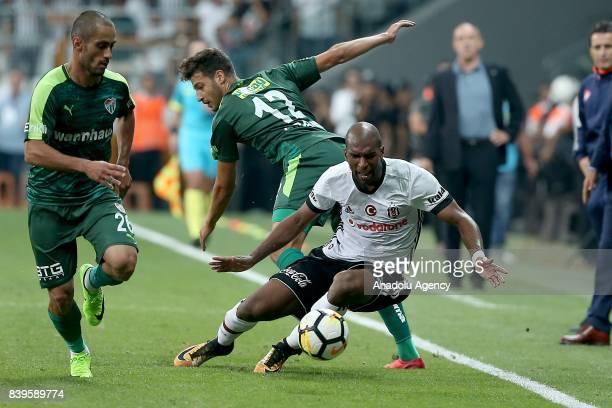 Ryan Babel of Besiktas vies for the ball during a Turkish Super Lig soccer match between Besiktas JK and Bursaspor at Vodafone Park in Istanbul...