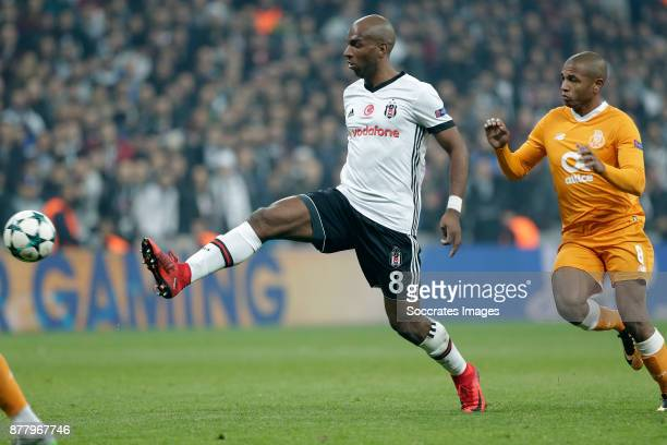 Ryan Babel of Besiktas Yacine Brahimi of FC Porto during the UEFA Champions League match between Besiktas v FC Porto at the Vodafone Park on November...