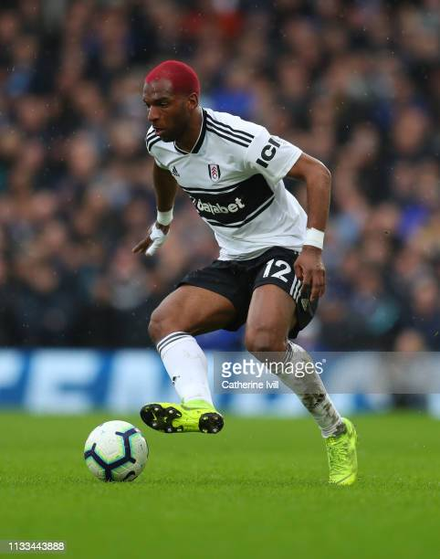 Ryan Babel of Fulham during the Premier League match between Fulham FC and Chelsea FC at Craven Cottage on March 03 2019 in London United Kingdom