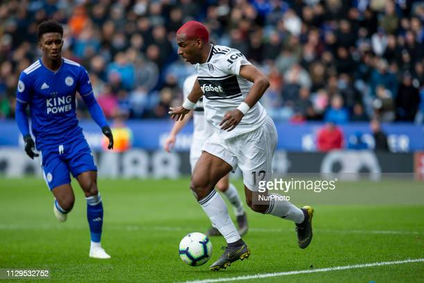 Ryan Babel of Fulham FC on the ball during the Premier League match between Leicester City and Fulham at the King Power Stadium Leicester on Saturday...