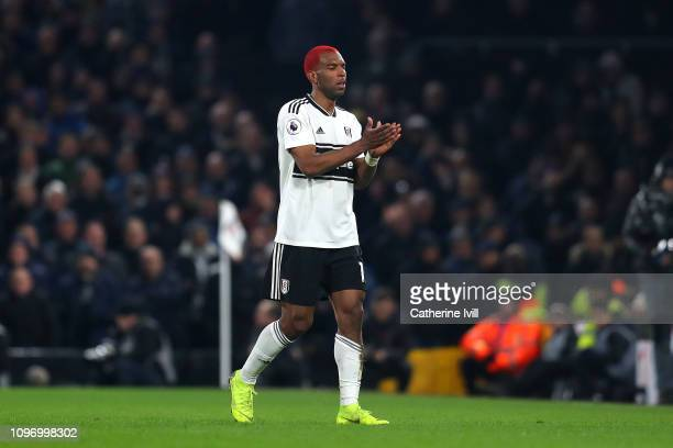 Ryan Babel of Fulham leaves the pitch during the Premier League match between Fulham FC and Tottenham Hotspur at Craven Cottage on January 20 2019 in...
