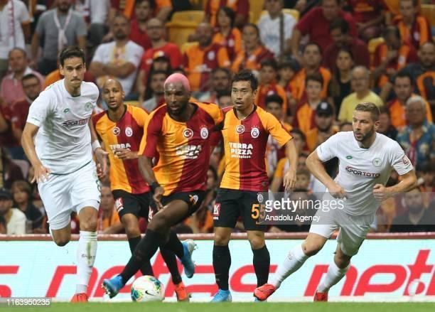 Ryan Babel of Galatasaray in action during the Turkish Super Lig soccer match between Galatasaray and Konyaspor at Turk Telekom Stadium in Istanbul,...