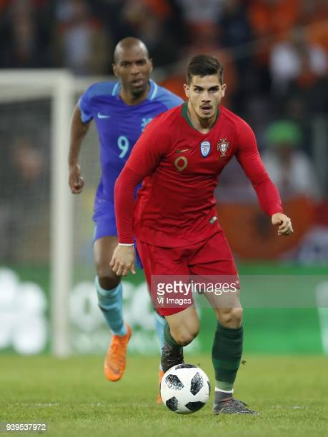 Ryan Babel of Holland Andre Silva of Portugal during the International friendly match match between Portugal and The Netherlands at Stade de Genève...