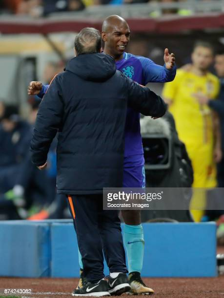 Ryan Babel of Holland coach Dick Advocaat of Holland during the International Friendly match between Romania v Holland at the Arena Nationala on...