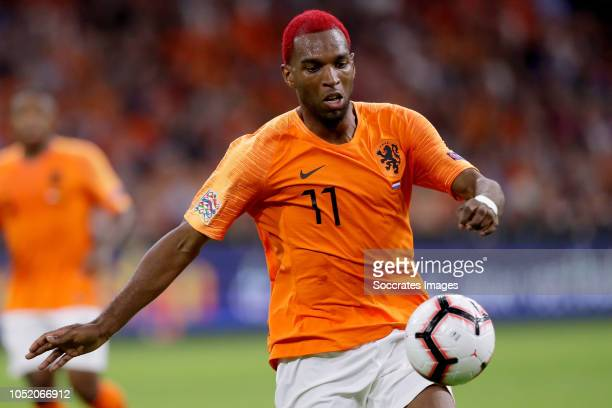Ryan Babel of Holland during the UEFA Nations league match between Holland v Germany at the Johan Cruijff Arena on October 13 2018 in amsterdam...