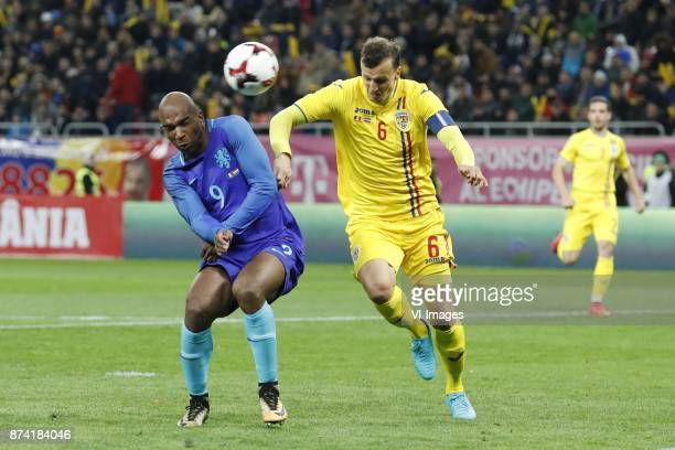 Ryan Babel of Holland Vlad Chiriches of Romania during the friendly match between Romania and The Netherlands on November 14 2017 at Arena National...