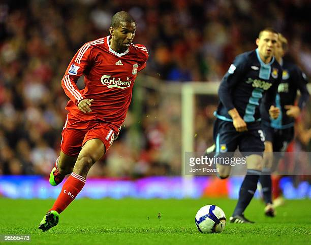 Ryan Babel of Liverpool stock during the Barclays Premier League match between Liverpool and West ham United at Anfield on April 19 2010 in Liverpool...