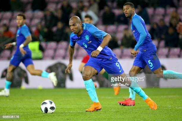 Ryan Babel of the Netherlands during the international friendly match between Portugal and the Netherlands at Stade de Geneve on March 26 2018 in...