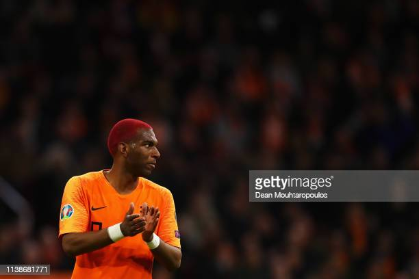 Ryan Babel of the Netherlands in action during the 2020 UEFA European Championships group C qualifying match between Netherlands and Germany at Johan...