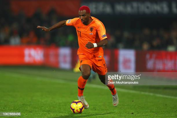 Ryan Babel of the Netherlands in action during the UEFA Nations League A group one match between Netherlands and France at De Kuip on November 16...