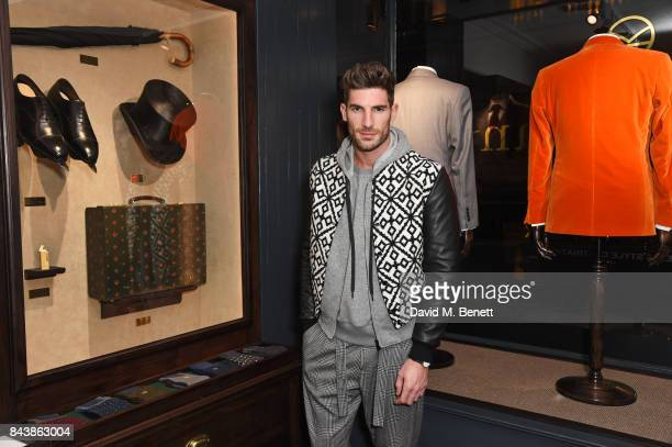 Ryan Barrett attends the launch of the 'Kingsman' shop on St James's Street in partnership with MR PORTER MARV Twentieth Century Fox in celebration...