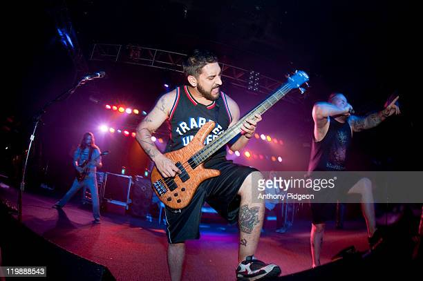 Ryan Bart Williams of The Black Dahlia Murder performs onstage at Roseland Theater on July 25 2011 in Portland United States