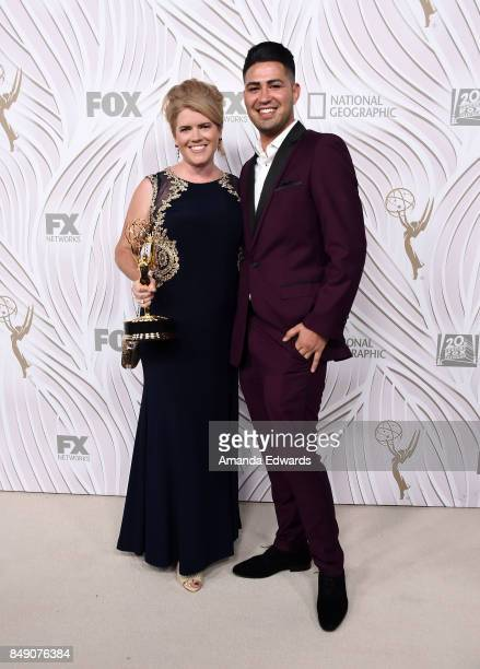 Ryan Bauer and Eduardo Arroyo arrive at the FOX Broadcasting Company Twentieth Century Fox Television FX and National Geographic 69th Primetime Emmy...