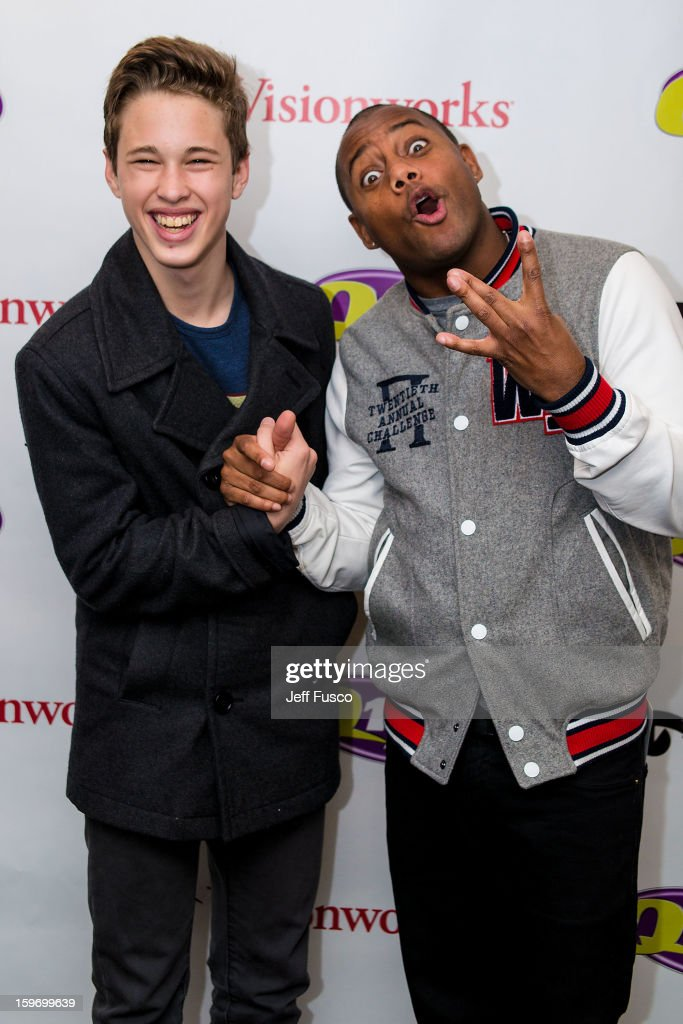 Ryan Beatty (L) and radio personality Maxwell pose at the Q102 iHeart Performance Theater on January 18, 2013 in Bala Cynwyd, Pennsylvania.