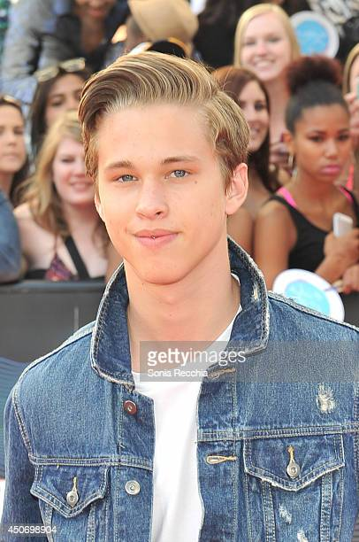 Ryan Beatty arrives at the 2014 MuchMusic Video Awards at Much Music HQ on June 15 2014 in Toronto Canada