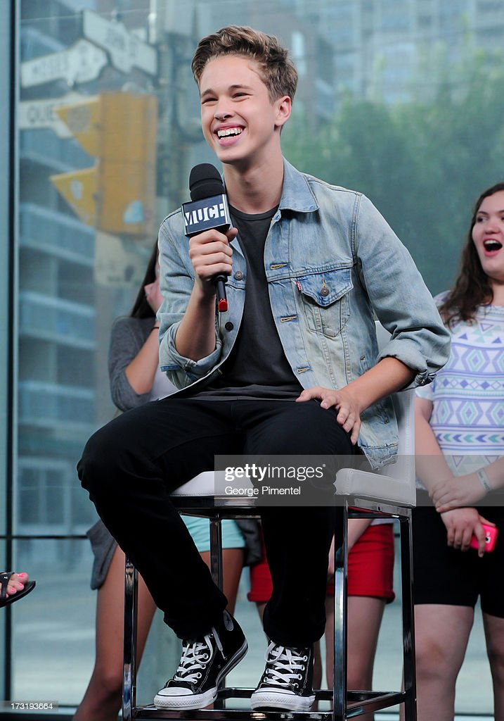 Ryan Beatty on NEW.MUSIC.LIVE. at MuchMusic Headquarters on July 9, 2013 in Toronto, Canada.