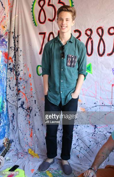 Ryan Beatty performs at TOMS Flagship Store on July 29 2013 in Venice California