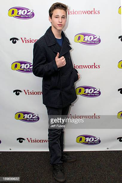 Ryan Beatty poses at the Q102 iHeart Performance Theater on January 18 2013 in Bala Cynwyd Pennsylvania