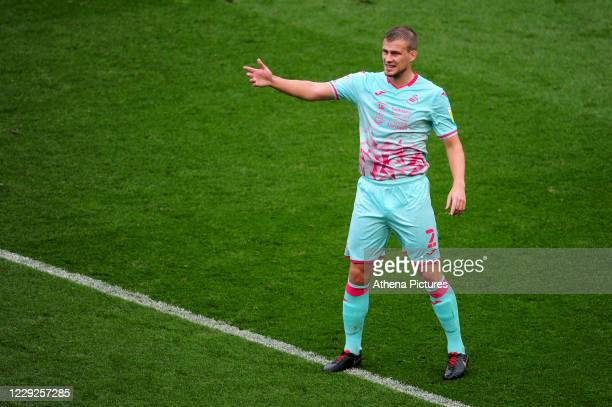Ryan Bennett of Swansea City during the Sky Bet Championship match between Bristol City and Swansea City at Ashton Gate on October 24 2020 in Bristol...