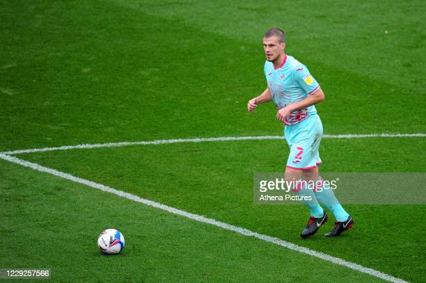 Ryan Bennett of Swansea City in action during the Sky Bet Championship match between Bristol City and Swansea City at Ashton Gate on October 24 2020...