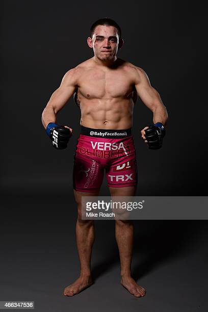 Ryan Benoit poses for a post fight portrait during the UFC 185 event at the American Airlines Center on March 14 2015 in Dallas Texas