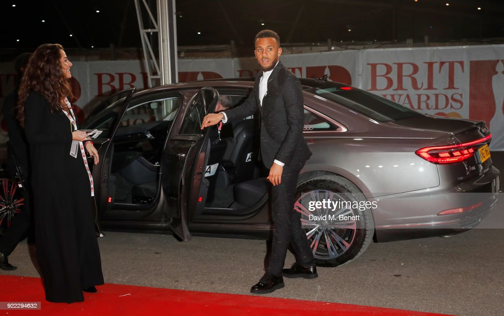Ryan Bertrand arrives in an Audi for the BRIT Awards at The O2 Arena on February 21, 2018 in London, England.