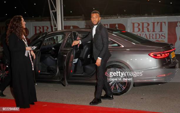 Ryan Bertrand arrives in an Audi for the BRIT Awards at The O2 Arena on February 21 2018 in London England
