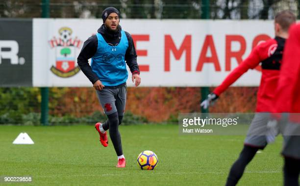 Ryan Bertrand during a Southampton FC training session at the Staplewood Campus on December 31 2017 in Southampton England