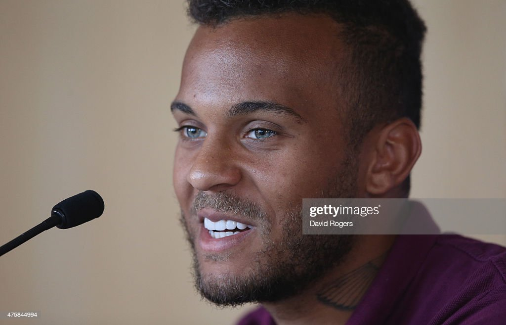 Ryan Bertrand faces the media during the England press conference held at St Georges Park on June 4, 2015 in Burton-upon-Trent, England.
