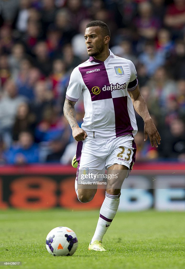 Ryan Bertrand of Aston Villa during the Barclays Premier League match between Crystal Palace and Aston Villa at Selhurst Park on April 12, 2014 in London, England.