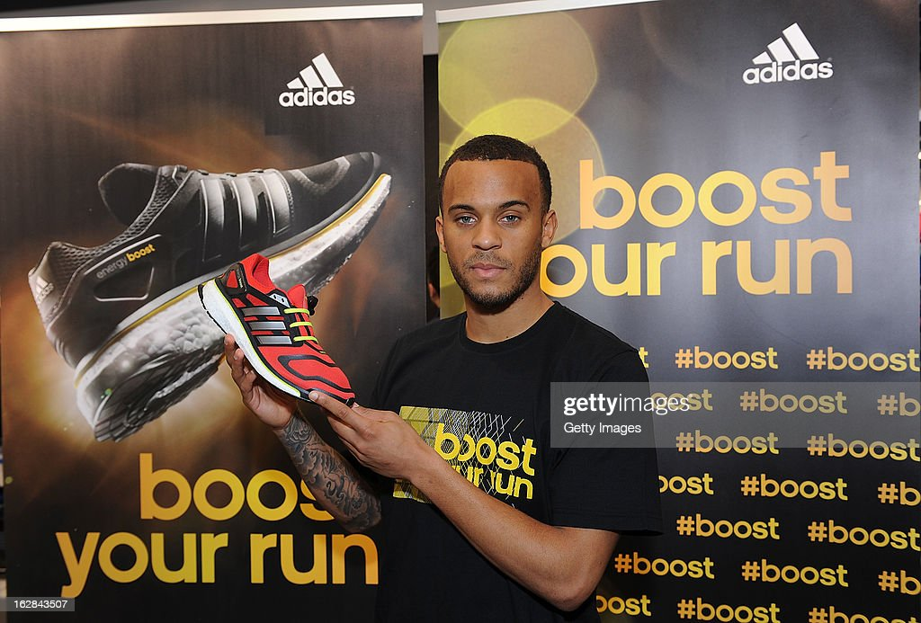 Ryan Bertrand of Chelsea poses at the adidas Boost Launch at the Westfield shopping centre on February 28, 2013 in London, England.