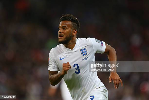 Ryan Bertrand of England during the UEFA EURO 2016 Qualifier match between England and Estonia at Wembley Stadium on October 9 2015 in London United...