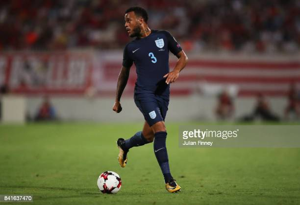 Ryan Bertrand of England in action during the FIFA 2018 World Cup Qualifier between Malta and England at Ta'Qali National Stadium on September 1 2017...