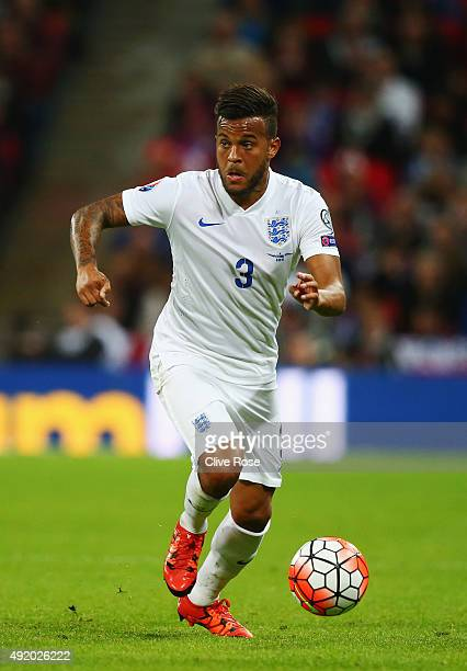 Ryan Bertrand of England in action during the UEFA EURO 2016 Group E qualifying match between England and Estonia at Wembley on October 9 2015 in...