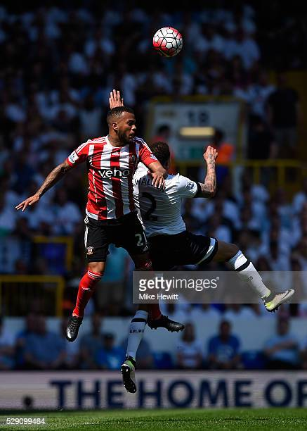 Ryan Bertrand of Southampton and Kyle Walker of Tottenham Hotspur in action during the Barclays Premier League match between Tottenham Hotspur and...