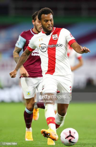 Ryan Bertrand of Southampton during the Premier League match between Burnley and Southampton at Turf Moor on September 26 2020 in Burnley England...