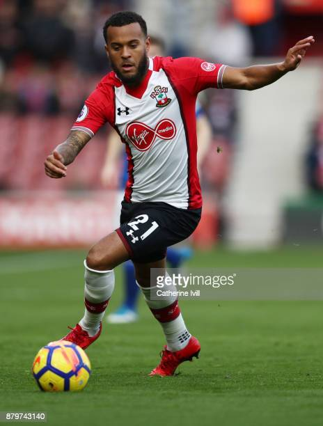 Ryan Bertrand of Southampton during the Premier League match between Southampton and Everton at St Mary's Stadium on November 26 2017 in Southampton...