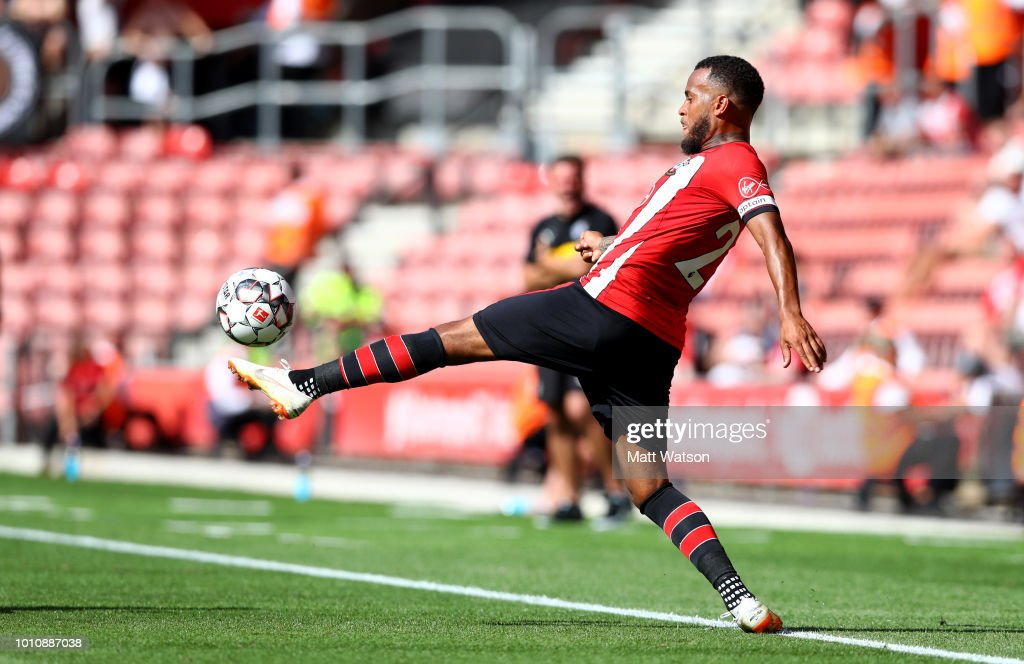 Ryan Bertrand of Southampton during the pre-season friendly match between Southampton and Borussia Monchengladbach at St Mary's Stadium on August 4, 2018 in Southampton, England.