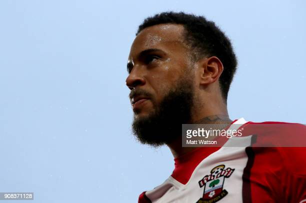 Ryan Bertrand of Southampton FC after Tottenham's Davinson Sanchez scores an own goal to put Southampton 10 up during the Premier League match...