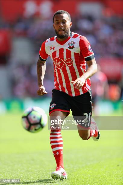 Ryan Bertrand of Southampton FC in action during the Premier League match between Southampton and Stoke City at St Mary's Stadium on May 21 2017 in...