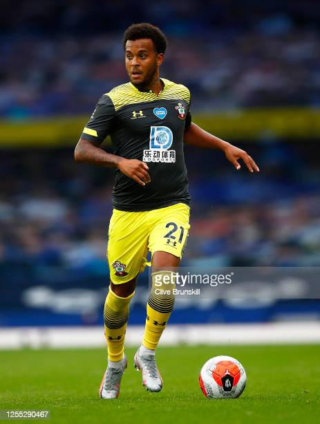 Ryan Bertrand of Southampton in action during the Premier League match between Everton FC and Southampton FC at Goodison Park on July 09 2020 in...