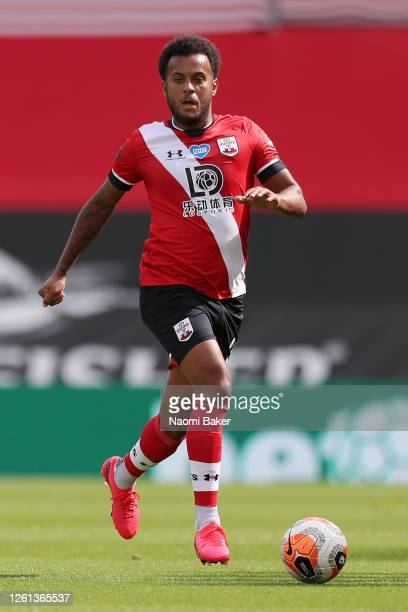 Ryan Bertrand of Southampton in action during the Premier League match between Southampton FC and Sheffield United at St Mary's Stadium on July 26...