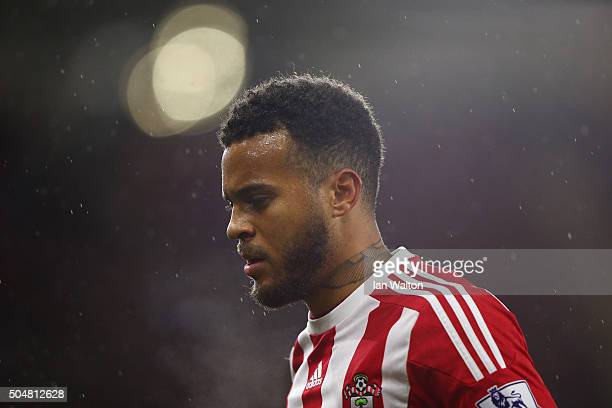 Ryan Bertrand of Southampton looks on during the Barclays Premier League match between Southampton and Watford at St Mary's Stadium on January 13...