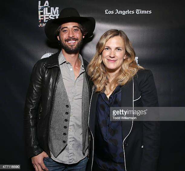 Ryan Bingham and Director/CoWriter Anna Axster attends the World Premiere of A Country Called Home at The 2015 Los Angeles Film Festival at Regal...