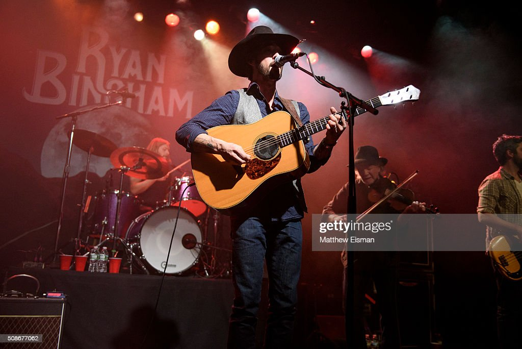 Ryan Bingham performs live on stage for the 'Fear and Saturday Night' Tour at Irving Plaza on February 5, 2016 in New York City.